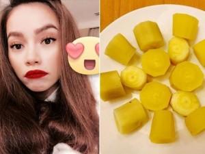 """Ca nhạc - MTV - Facebook sao 10/12: Hà Hồ """"khoe"""" ăn sắn dát vàng"""