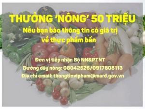 Tin tức Việt Nam - Lấy tiền phạt thực phẩm bẩn để thưởng cho người báo tin