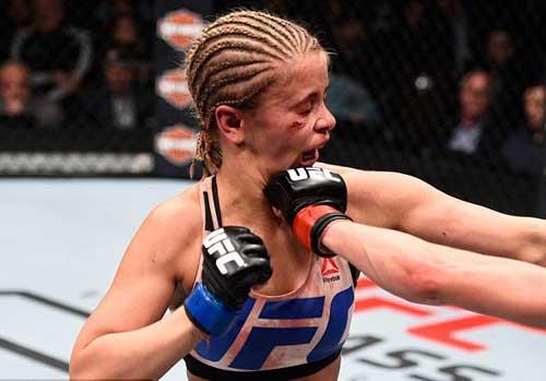 """Tranh đai hạng lông, """"Hoa khôi"""" UFC bị đánh bầm dập - 1"""