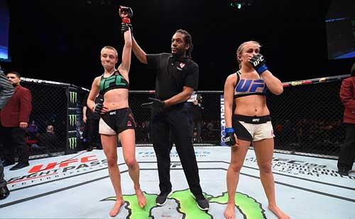 """Tranh đai hạng lông, """"Hoa khôi"""" UFC bị đánh bầm dập - 5"""