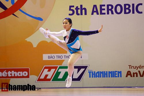 Bị sự cố nhạc, VĐV nhí VN vẫn dẫn đầu vòng loại Aerobic châu Á - 12