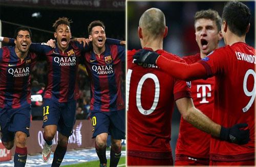 Ứng viên vô địch C1: Sự vượt trội của Barca & Bayern - 1