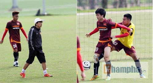 "Clip: HLV Miura ""truyền lửa"" cho U23 Việt Nam - 4"
