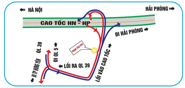 """""""Bí kíp"""" tránh đi lạc khi qua các nút giao cao tốc HN – HP - 2"""