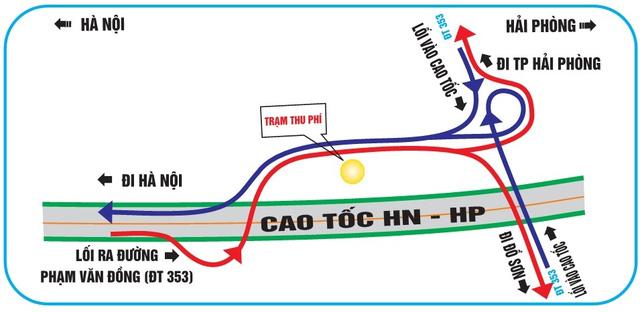 """""""Bí kíp"""" tránh đi lạc khi qua các nút giao cao tốc HN – HP - 5"""