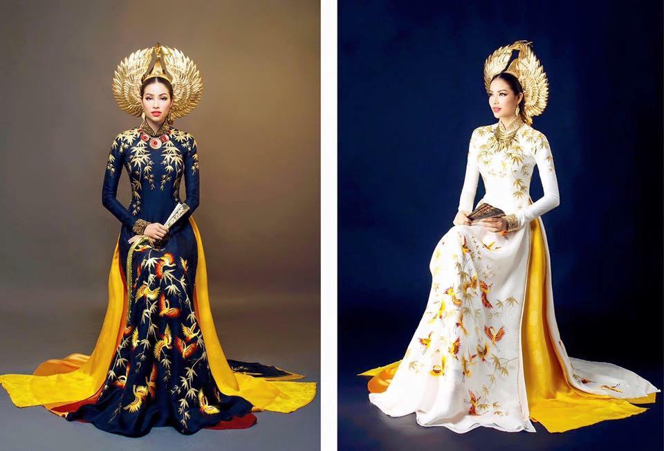 1449898161 1449888636 pham huong hh 2 Trang phục dân tộc của mỹ nhân Việt ở đấu trường quốc tế