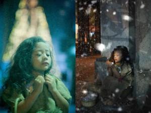 """Bạn trẻ - Cuộc sống - Bộ ảnh """"Cô bé bán diêm"""" khiến người xem xúc động"""