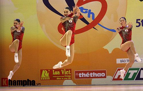 """Xem người đẹp Aerobic """"bay lượn"""" tại giải châu Á - 1"""