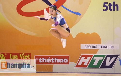 """Xem người đẹp Aerobic """"bay lượn"""" tại giải châu Á - 3"""