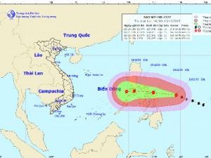 Xuất hiện siêu bão giật cấp 17 ngoài biển Đông