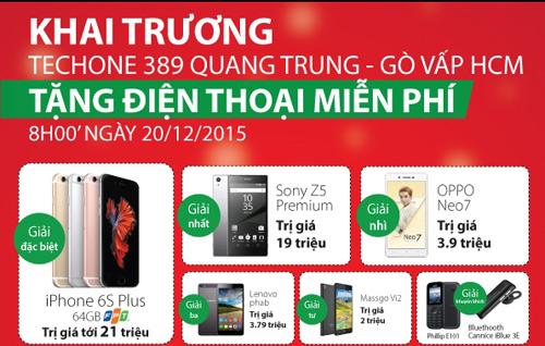 Khai trương TechOne Quang Trung tặng Smartphone miễn phí - 2