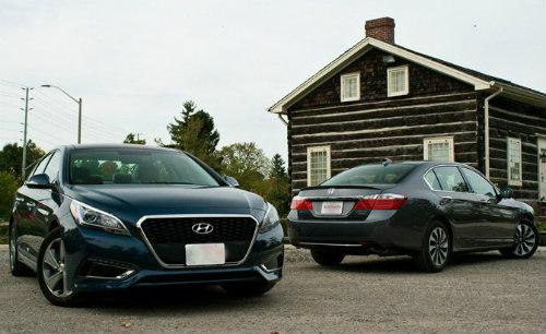 So kè Honda Accord Hybrid 2015 và Hyundai Sonata Hybrid 2016 - 2