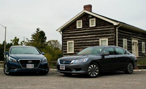 So kè Honda Accord Hybrid 2015 và Hyundai Sonata Hybrid 2016 - 1