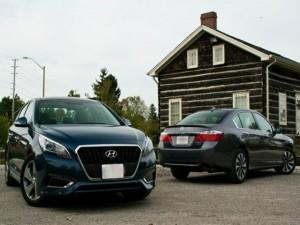 Ô tô - Xe máy - So kè Honda Accord Hybrid 2015 và Hyundai Sonata Hybrid 2016