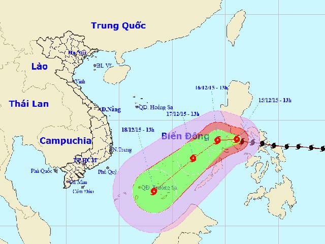 Bão Melor giật cấp 15-16 sắp tấn công biển Đông - 1