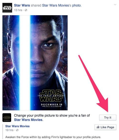 """Cách tạo hiệu ứng tia sáng """"Star Wars"""" cho avatar Facebook - 2"""