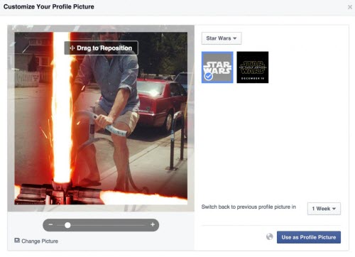 """Cách tạo hiệu ứng tia sáng """"Star Wars"""" cho avatar Facebook - 3"""