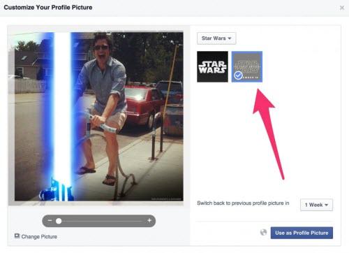"""Cách tạo hiệu ứng tia sáng """"Star Wars"""" cho avatar Facebook - 1"""
