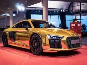 """Đã mắt với chiếc Audi R8 V10 Plus thế hệ thứ hai """"toàn vàng"""""""