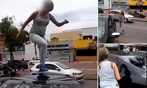 Bà bầu đập nát xe ô tô vì phát hiện chồng ngoại tình - 2