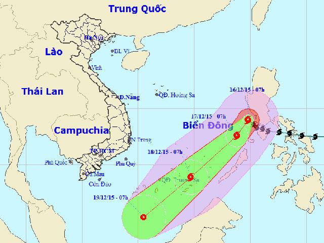 Bão Melor vào Biển Đông - 1