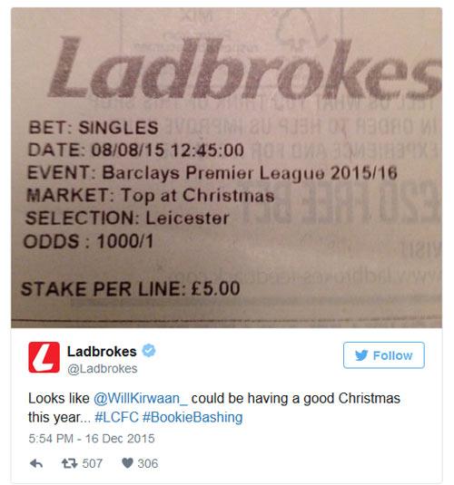 Fan trúng đậm nhờ Leicester khuynh đảo Ngoại hạng Anh - 1