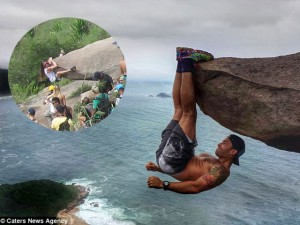 """Bạn trẻ - Cuộc sống - Sự thật ngã ngửa về bức ảnh chàng trai """"đu trên vách đá"""""""