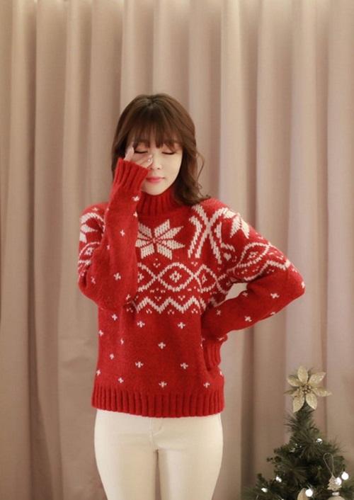 Những mẫu áo len rực rỡ cho mùa Giáng sinh - 3