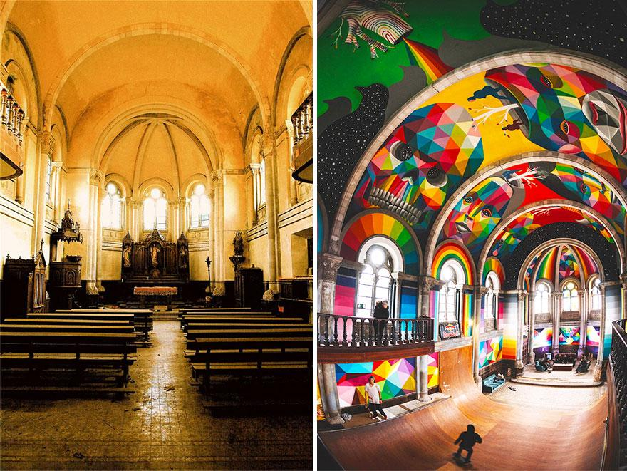 """Choáng ngợp nhà thờ trăm tuổi """"hô biến"""" thành sàn trượt ván - 11"""