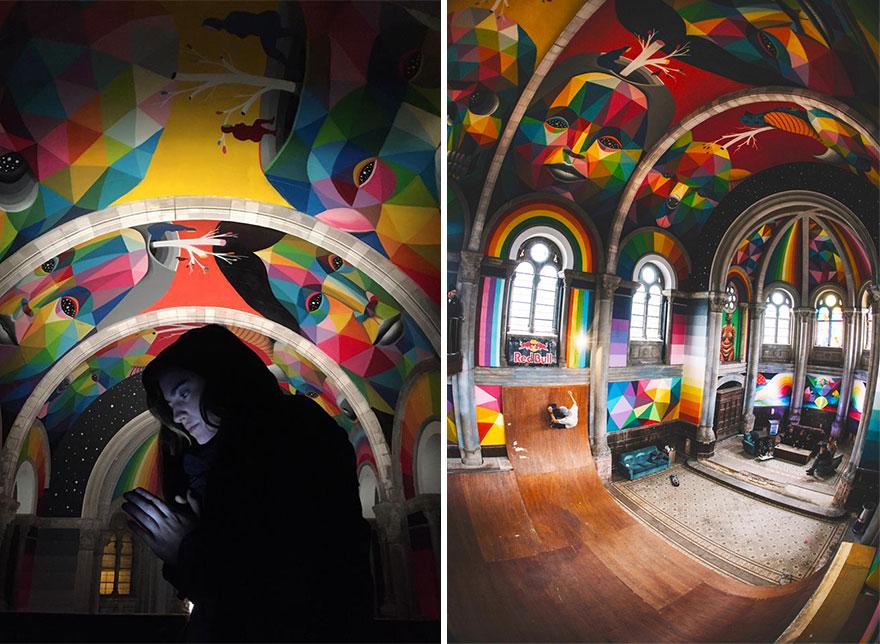 """Choáng ngợp nhà thờ trăm tuổi """"hô biến"""" thành sàn trượt ván - 5"""