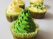Ẩm thực - Tự làm bánh cupcake cây thông Noel đẹp mắt
