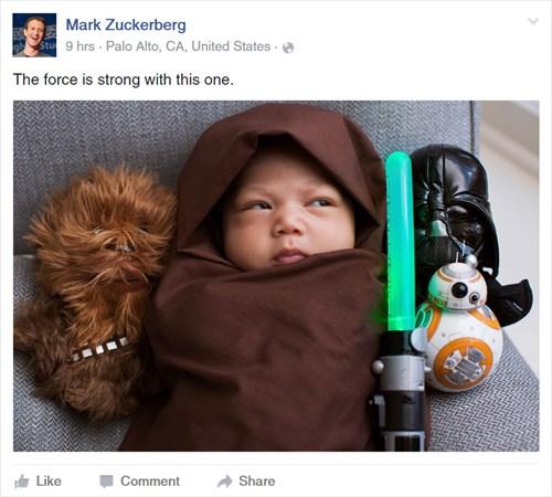 Ông chủ Facebook đăng ảnh con gái diện đồ 'Star Wars' - 1