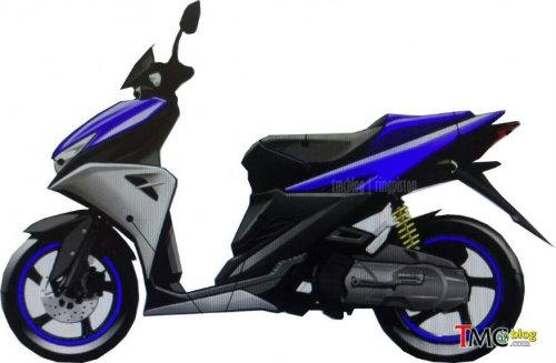 Yamaha Aerox 125 rò rỉ ảnh, sẵn sàng cho năm mới - 1