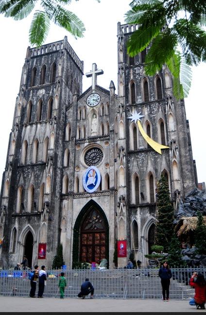 Ảnh: Các nhà thờ lớn ở HN trang hoàng lộng lẫy đón Noel - 1