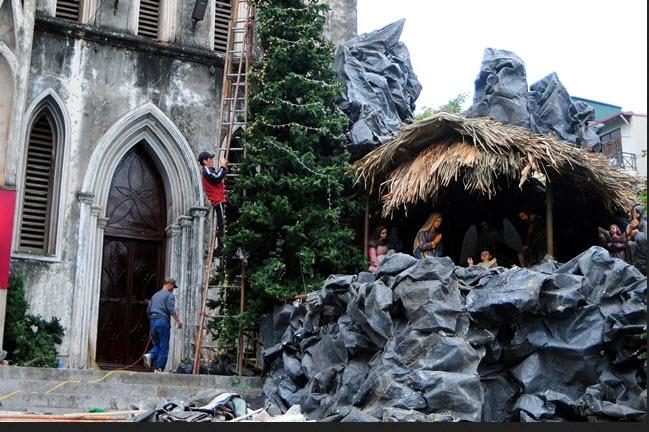 Ảnh: Các nhà thờ lớn ở HN trang hoàng lộng lẫy đón Noel - 4