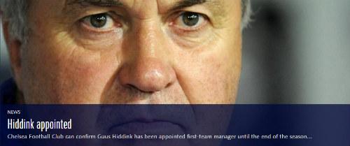 CHÍNH THỨC: Chelsea bổ nhiệm Hiddink thay Mourinho - 1