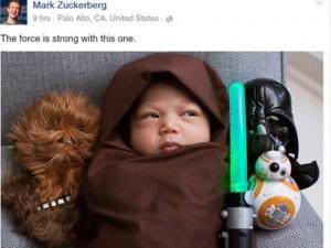 Bạn trẻ - Cuộc sống - Ông chủ Facebook đăng ảnh con gái diện đồ 'Star Wars'