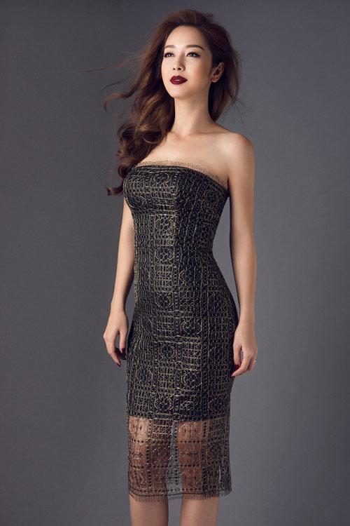 Jennifer Phạm khoe eo thon với đầm ôm sát gợi cảm - 1