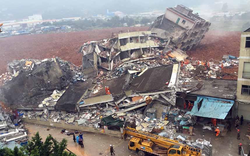 Toàn cảnh vụ sập 33 tòa nhà gần 100 người mất tích ở TQ - 2