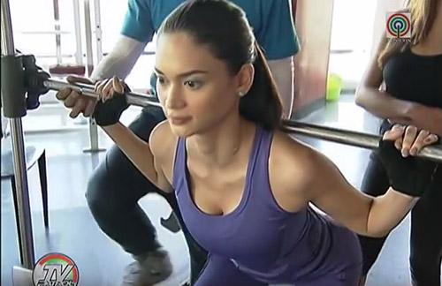 Hoa hậu Hoàn vũ 2015: Tập gym có 3 vòng hoàn hảo - 2