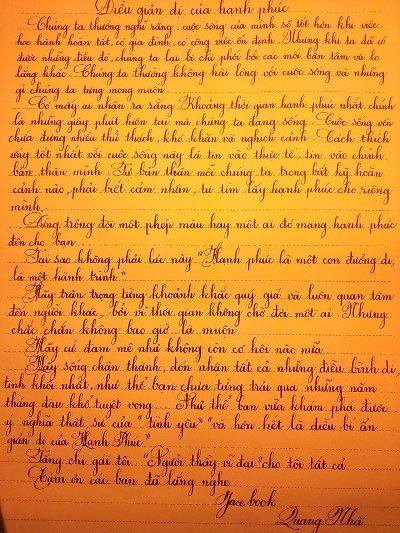 Ngỡ ngàng khả năng viết chữ đẹp như in của một sinh viên ngành Hoá học - 4