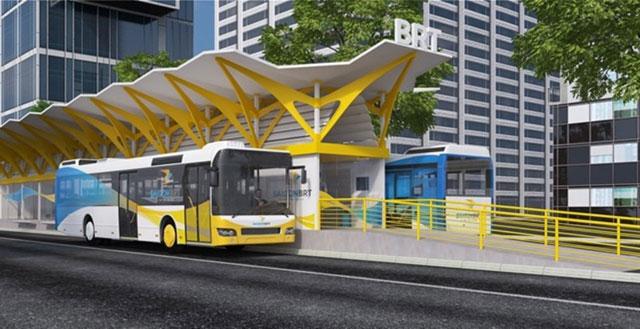 Hình ảnh mô phỏng xe bus nhanh sắp hoạt động tại TPHCM - 2