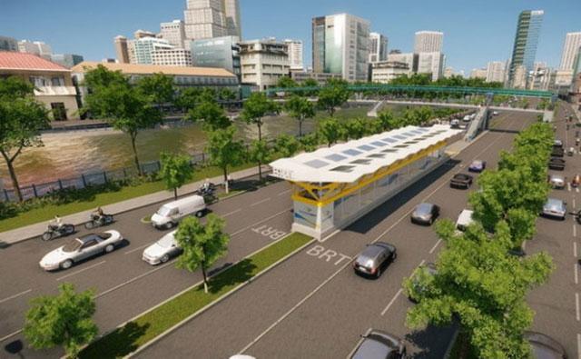 Hình ảnh mô phỏng xe bus nhanh sắp hoạt động tại TPHCM - 3
