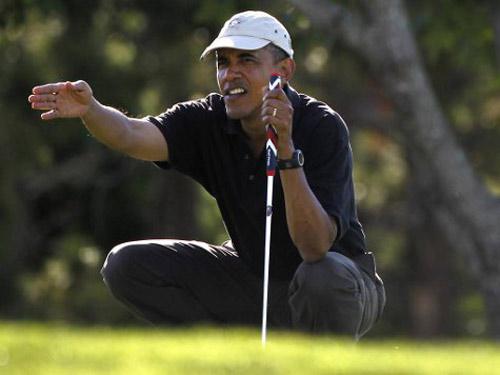 Golf 24/7: Ông Obama còn chơi golf nhiều hơn Tiger Woods - 1