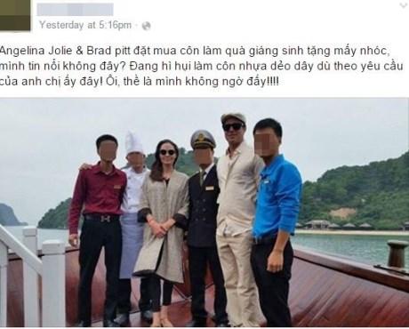 Angelina Jolie và Brad Pitt đi xe máy dạo phố Hà Nội - 1