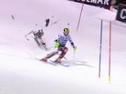 """Các môn thể thao khác - Nhà vô địch trượt tuyết gặp họa """"trên trời rơi xuống"""""""