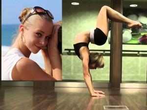 Trầm trồ với màn yoga điêu luyện của người đẹp Mỹ