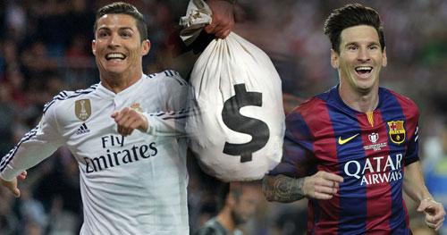 Ronaldo, Messi kiếm tiền siêu khủng: Đối thủ kỳ phùng - 1