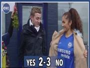 Bóng đá - Quên thù, CĐV Tottenham hôn say đắm fan Chelsea