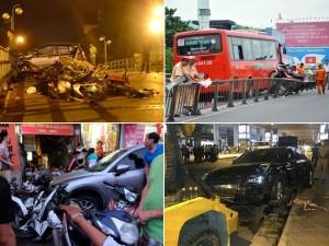 """Những vụ xe """"điên"""" khiến người dân khiếp đảm năm 2015"""